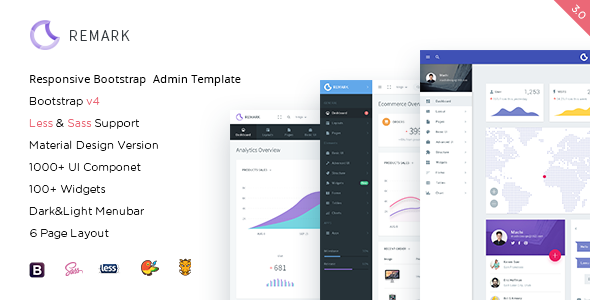 Remark - Responsive Bootstrap 4 Admin Template by amazingSur ...