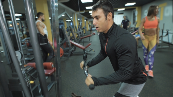 Download Athlete Trains In Fitness Club. nulled download