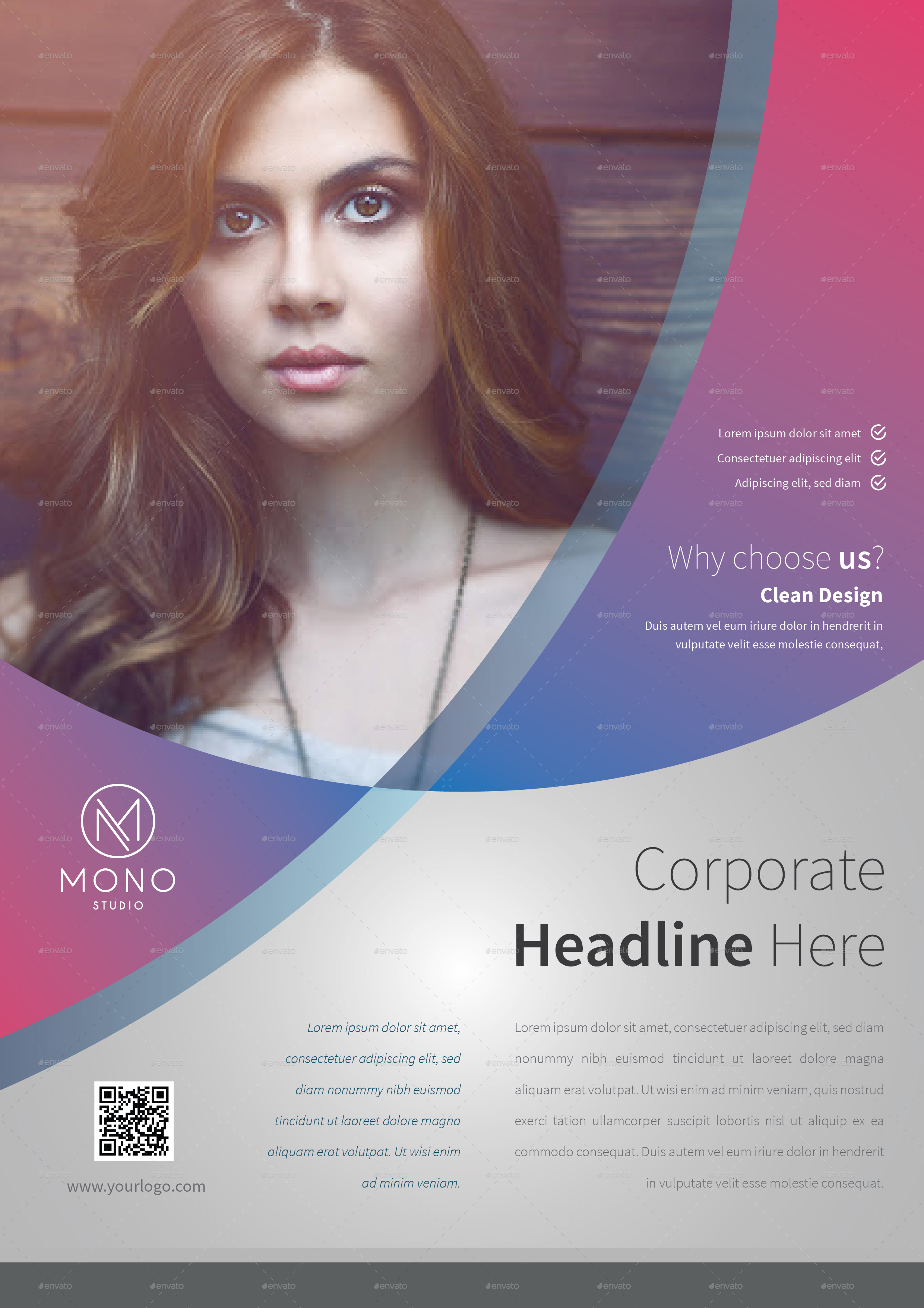 Corporate Flyer Template Set 9 by MONOGRPH – Corporate Flyer Template