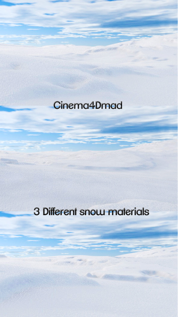 Snow materials x3 cinema 4d - 3DOcean Item for Sale