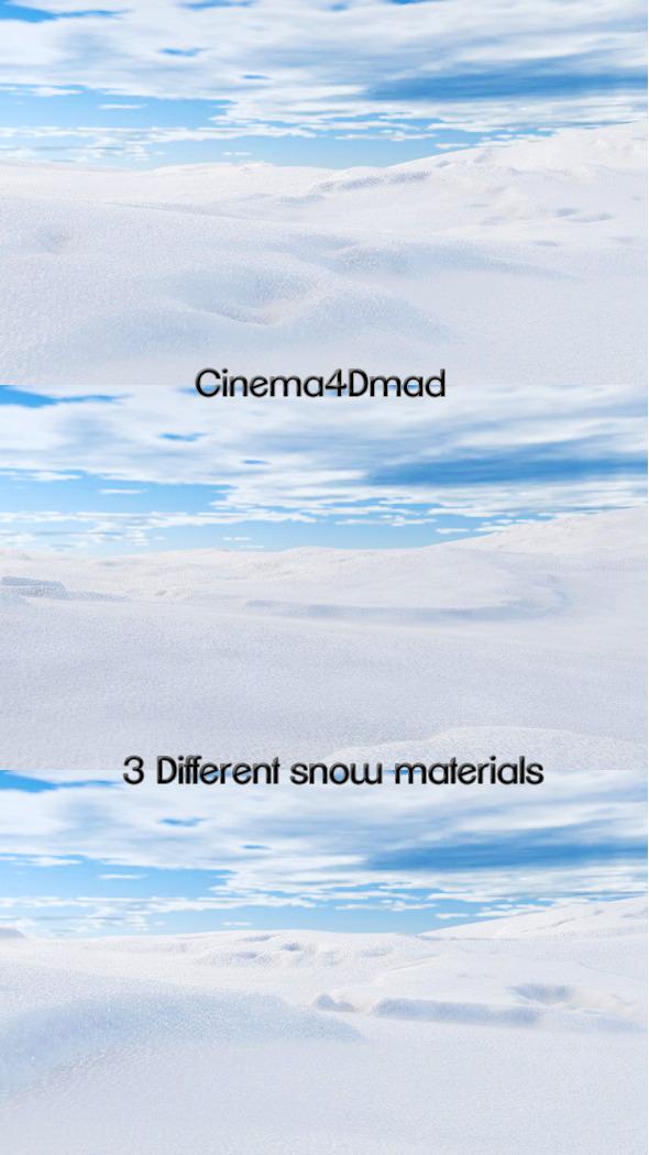 3DOcean Snow materials x3 cinema 4d 1806062