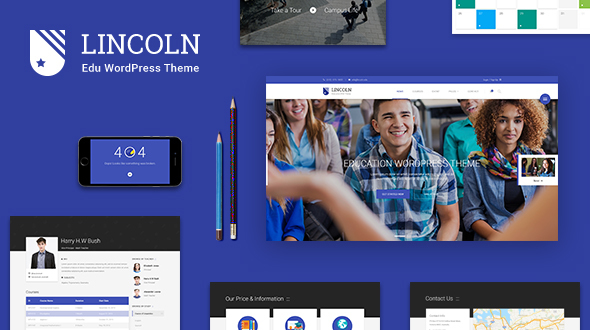 Lincoln - Education Material Design WordPress Theme