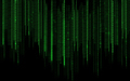 black green binary system code background