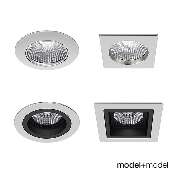 3DOcean Recessed spotlights collection 18334059
