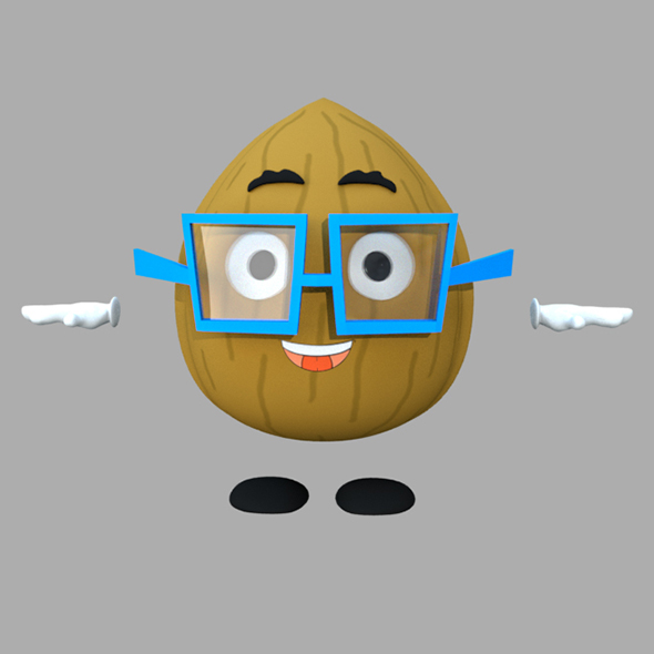 Walnut Cartoon 3D Character Rig - 3DOcean Item for Sale