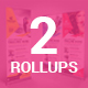 Bundle of 2 Multipurpose Rollup Banners