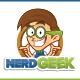 Nerd Geek Mascot Character