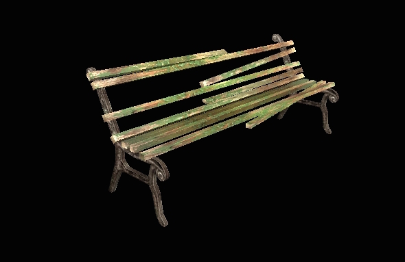 3DOcean Rusted Bench 18335505