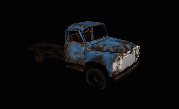 Rusted Car - 3DOcean Item for Sale