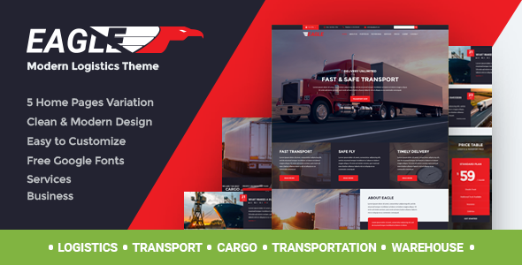 Download Eagle - Logistics, Cargo & Transportation WordPress Theme nulled download