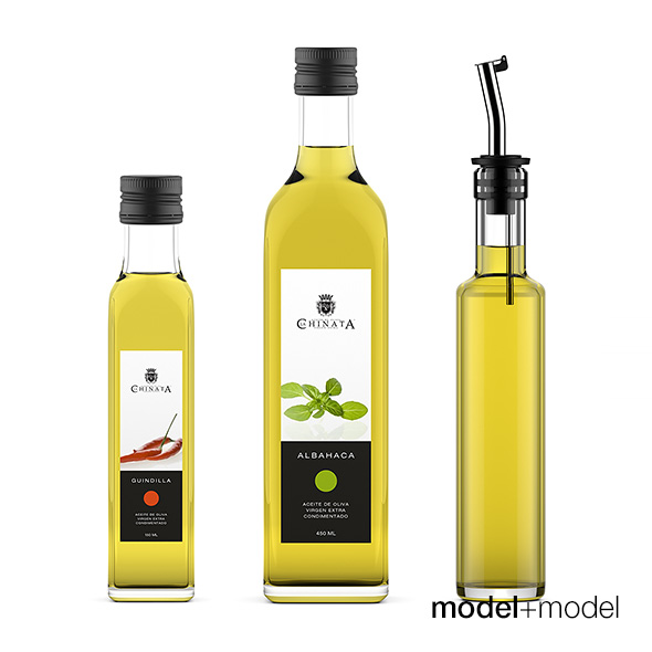 Olive oil bottles - 3DOcean Item for Sale
