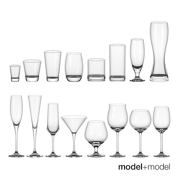 Set of glasses - 3DOcean Item for Sale