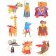Animas Dressed As Superheroes