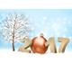 Winter 2017 Background With A Bauble Vector