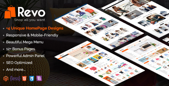 Download Revo - Responsive Magento 2 Shopping Theme nulled download
