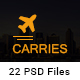 Carries Transportation and Logistics PSD Template