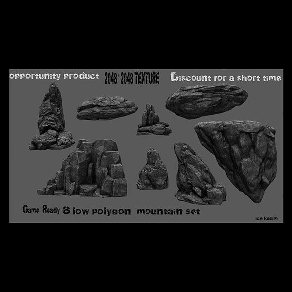 rock set 22 - 3DOcean Item for Sale