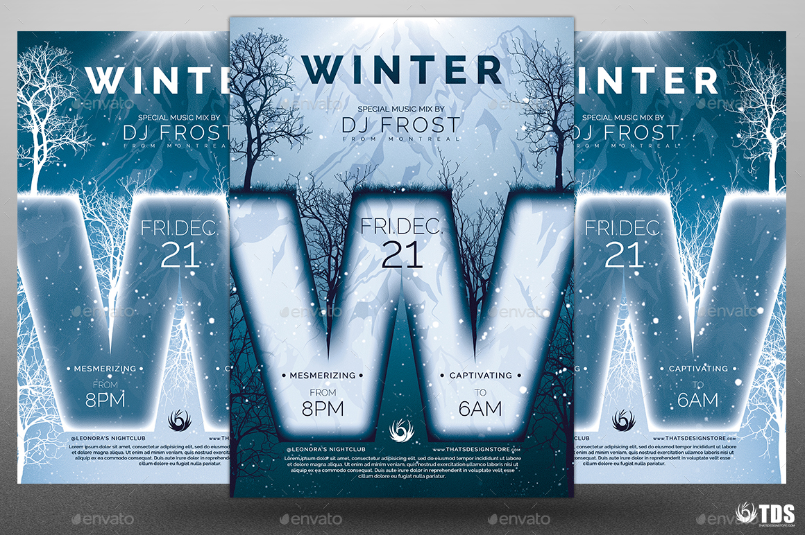 minimal winter flyer template by lou graphicriver 01 minimal winter flyer template jpg