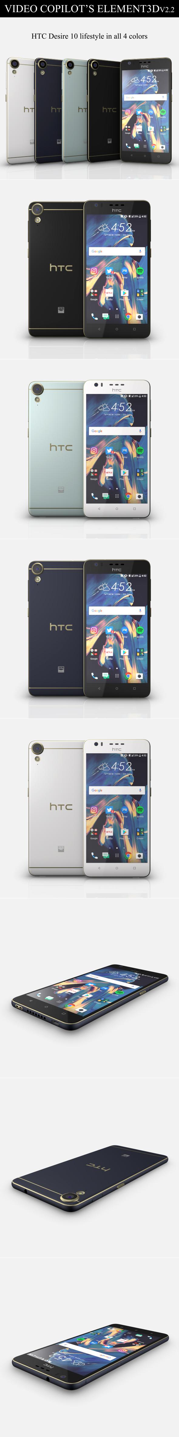 Element3D - HTC Desire 10 lifestyle - 3DOcean Item for Sale