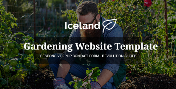 Iceland - Garden, Landscape Responsive Site Template