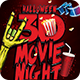 Halloween 3D Movie Night Flyer