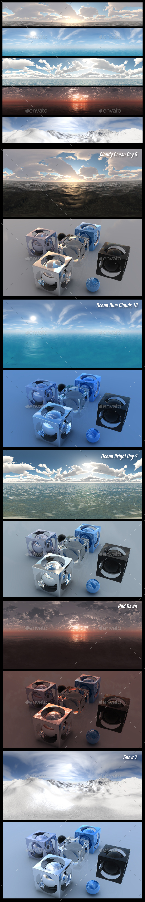 HDRI Pack 14 - 3DOcean Item for Sale