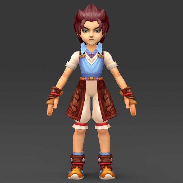 Cartoon Character Tuli - 3DOcean Item for Sale