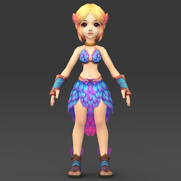 3DOcean Cartoon Character Julni 18349398