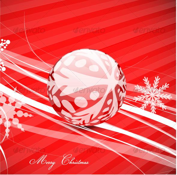 Christmas ball on a surface