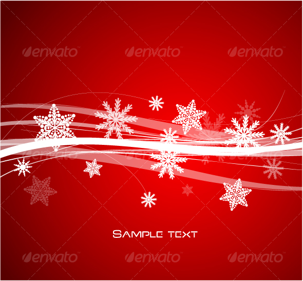 Snowflakes design - New Year Seasons/Holidays