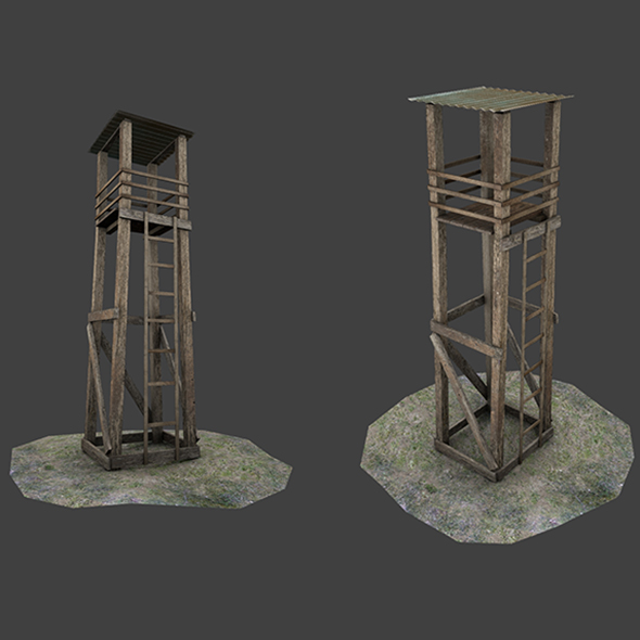 Light Tower Low Poly 3D Model - 3DOcean Item for Sale