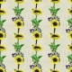 Seamless Pattern With Sunflowers And Berries