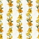 Seamless Pattern With Yellow Flowers