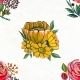 Seamless Pattern With Sunflowers And Roses