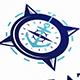 Nautical Navigation Logo Template