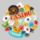 Casino Gambling Background Design With Game