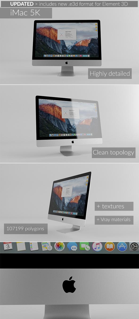 Element 3D - iMac 5K - 3DOcean Item for Sale