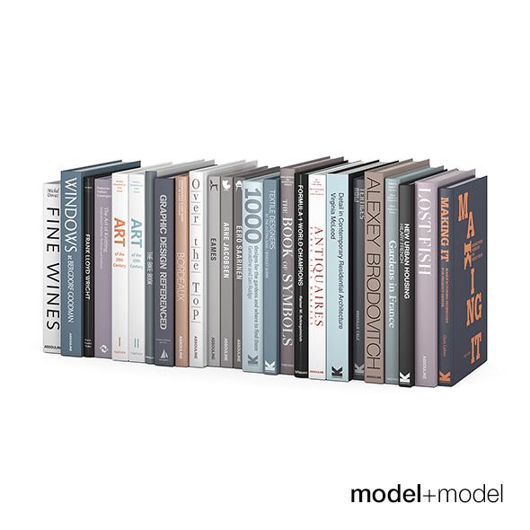 Customizable design books - 3DOcean Item for Sale