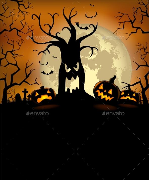 Halloween Silhouette Background