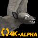Super Bat - Flying Cycle - Side Angle - 4K