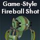 Game-Style Fireball Shot