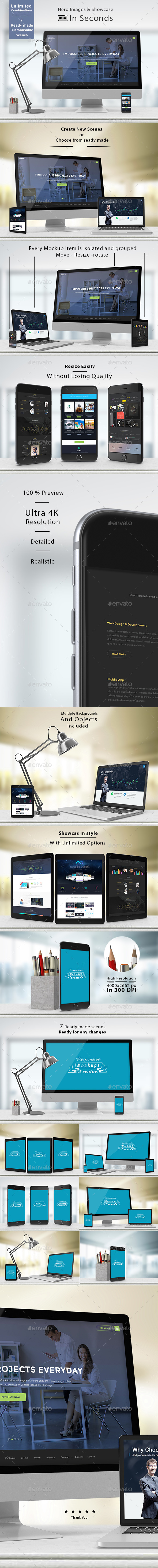 Responsive Mockups Creator V2 - Showcase & Hero Images - Latest News on Apple products Latest Release Apps and Games
