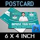 Optometrist & Optician Postcard Template