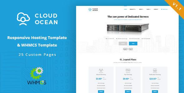 CloudOcean - Responsive Hosting & WHMCS Template