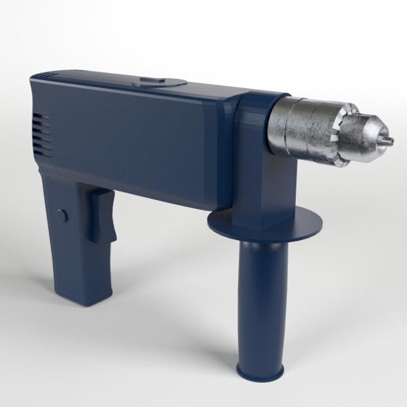 Drill, Pistol Grip - 3DOcean Item for Sale