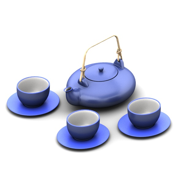 3DOcean Japan tea set 18367010
