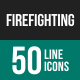 Firefighting Line Icons