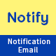 Notify - Notification Email Template PSD