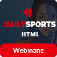 DailySports - Sports Magazine and Blog HTML Template