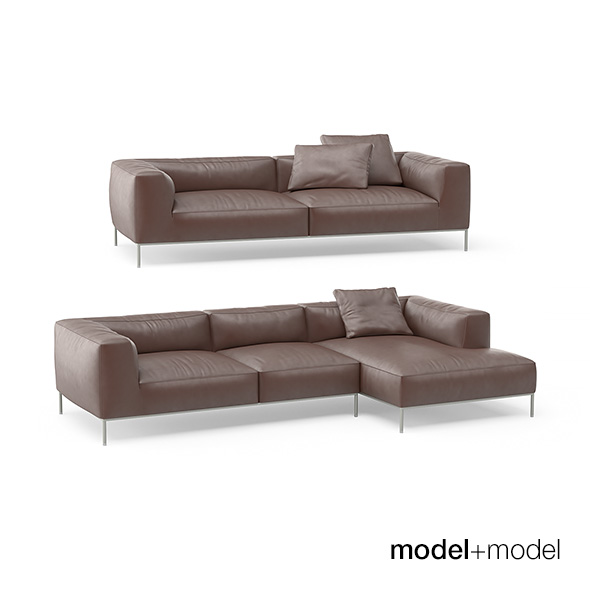 B&B Italia Frank sofas - 3DOcean Item for Sale